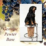 Black and Tan Coonhound Wine Bottle Stopper - DTB127