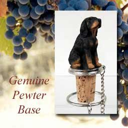 Black and Tan Coonhound Wine Bottle Stopper - DTB127 by Conversation Concepts