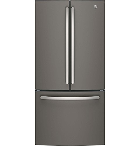 "GE GWE19JMLES 33"" Inch Counter Depth French Door Refrigerato"