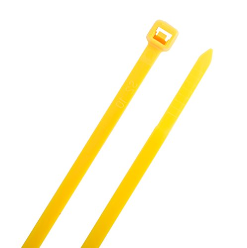 SecuriTie CT14-50100Y Cable Ties, 14 Inch., 50 Lbs. Tensile Strength, Wire & Cord Management / Industrial / Household Use, Nylon Zip Tie, 100 Pk, Yellow