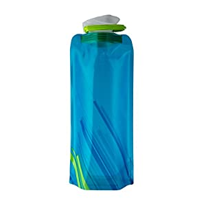 Vapur 10157 - Element 0.7L Foldable Flexible Water Bottle w/ Carabiner (Water)
