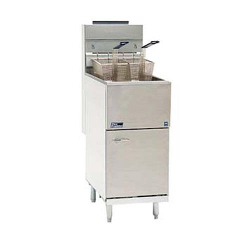 40 Lb Gas Fryer (Natural Gas Pitco 35C+S 35-40 lb. Stainless Steel Floor Fryer - 3 Tubes, 90,000)