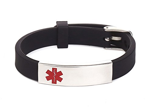 Silicone Bracelet Medical Aler