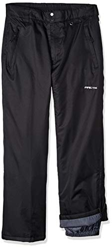 Arctix Men's Full Side-Zip Insulated Snow Pants, Black, X-Large