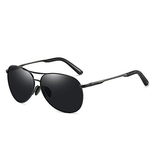 polarizadas y de Día de Sol Sol nuevos Marco Protección UV Gafas Polarizador Noche Gafas Metal de Bre de Hombres qPXt77