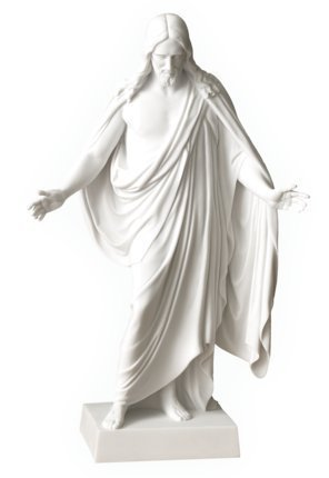 Belosol Christus Statue 12'' Jesus Christ Cultured White Marble