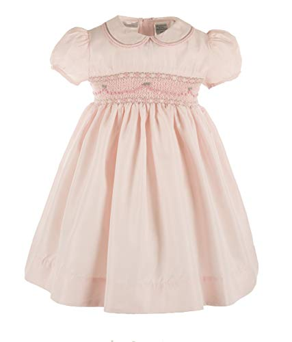 Carriage Boutique Girls Elegant Taffeta Pink Short Sleeve -