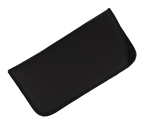 1 Pack Soft Faux Leather Slip In Eyeglass Case, Fits Medium to Large Frames, - Eyeglasses Faux