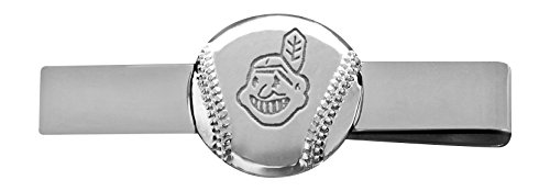 MLB Cleveland Indians Engraved Tie Bar - Diamond Engraved Cufflinks