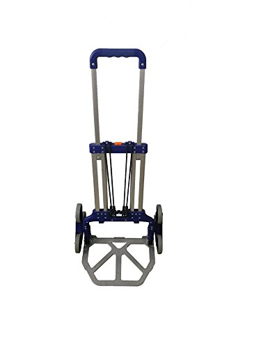 Portable Foldable Stair Climbing Luggage Hand Cart Capacity 220Lbs Color Blue