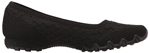 Witty Flat Bikers Black Knit Skechers Women's Ballet PF4wqPz7