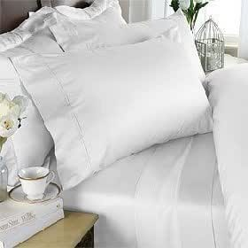 Algodón egipcio Factory Store lujoso seis (6) Juego de color blanco sólido Solid Solid/Plain, tamaño de la Reina, 1200hilos Ultra suave Single-ply 100% algodón egipcio, Extra profundo bolsillo juego de sábanas con cuatro (4) fundas de almohada 1200Tc
