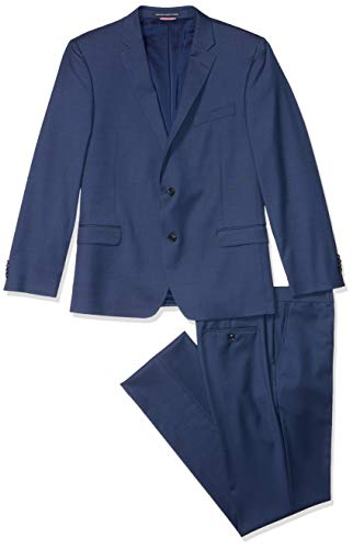 Tommy Hilfiger Men's Big and Tall Slim Fit Performance Suit with Stretch, New Navy, 46L (46l New Suit Mens)