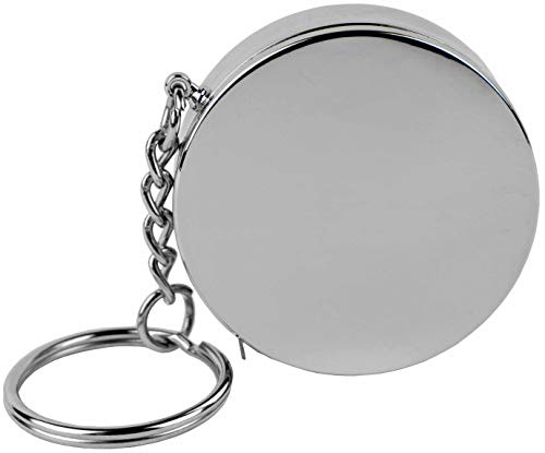 Mini Stainless Steel 3 ft Tape Measure Keychain (Round)
