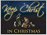 Keep Christ in Christmas Lawn Display (Black Design) - Yard Decoration