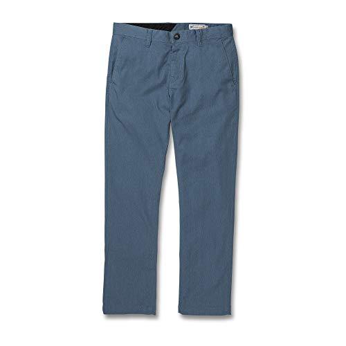 Volcom Men's Frickin Modern Fit Stretch Chino Pant, Blue Rinse, 36X30