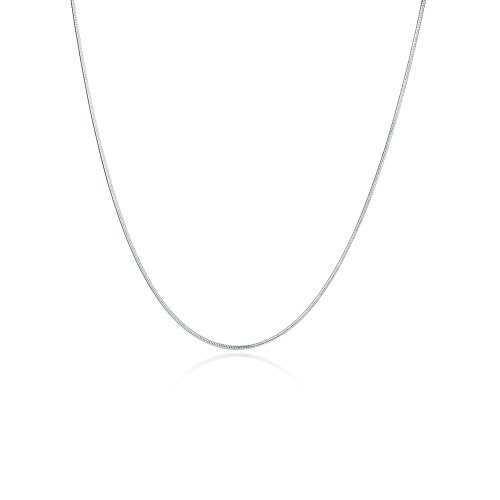 Sterling Silver Neck Chain (NA BEAUTY Sterling Silver 1MM Snake Chain with Lobster Clasp 18