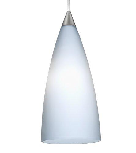 (Juno Lighting Group PKH314OPAL 1-Light 12-volt Flute Mini-Pendant Kit, Satin Nickel Finish with Inferno Glass)