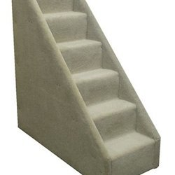 Bear's Stairs Six-Step Mini Carpeted Pet Stairs Color: Beige by Animal Stuff