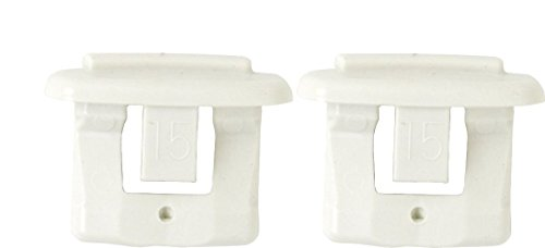 [Pack of 2 Dishwasher End Cap for Upper Rack Rail (Dish Rack Stop Clip) New OEM GE, Kenmore, Hotpoint] (General Electric Rail)