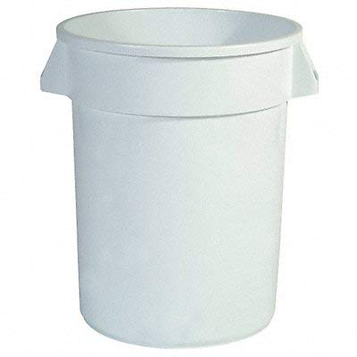 Food-Grade Waste Container, 20 gal, White