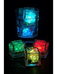 Combo of 12 Cubes Flashing with Rainbow Colors - Blinking - Light Cubes for Drinks ()