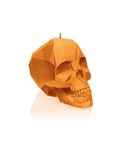 Candellana Candles Small Skull, Orange by Candellana Candles