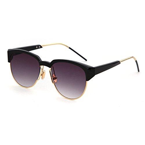 ADEWU Polarized Classic Unisex Sunglasses Semi-Rimless Metal Frame - Zig Sunglasses Quay