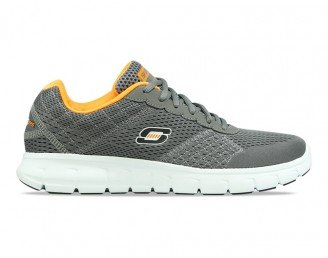 Skechers Men's Grey Vim Full Contact Walking Shoes (6 UK