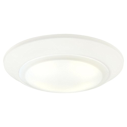 Westinghouse Lighting 6322900 Large LED Indoor/Outdoor Dimmable Surface Mount Wet Location, White Finish with Frosted - Mount Flush Indoor Housing