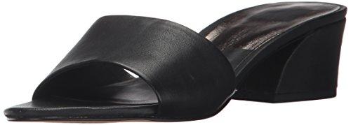 Onyx Slide (Dolce Vita Women's Rilee Slide Sandal, Onyx Leather, 8 Medium US)
