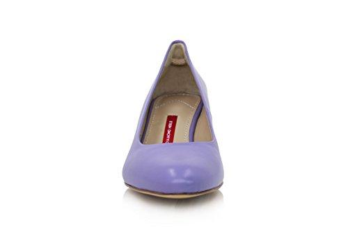 Diamond Absatz Nappaleder 5cm Pumps Heels Violette Breiter rrza0q