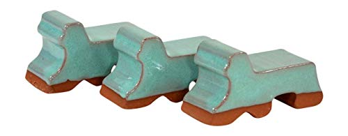 Ceramic Pot Feet 3-Pack - Made In USA- Flower Pot Risers Glazed Ceramic - Handmade - Stoneware Clay - Frost Proof - Made For Planters- 3