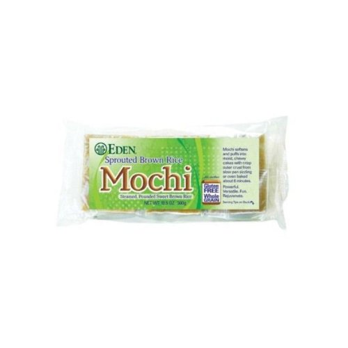 Eden Sprouted Brown Rice Mochi, 10.5-Ounce Packages (Pack of 2) (Eden Organic Brown Rice)