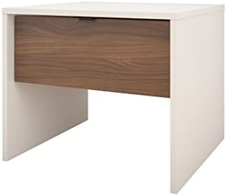 Nexera 1-Drawer Night Stand, White Walnut