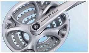 Shimano Nexave T303 Tapered Triple Chainset 170mm 28 38 48 W Cg Amazon Co Uk Sports Outdoors