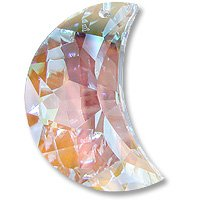 Swarovski Crystal Moon Pendant 6722 30mm Crystal AB (Package of 1)