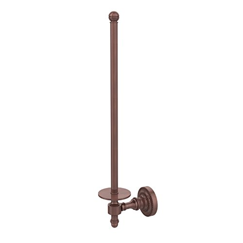 Allied Brass RD-24U/12-CA Retro Dot Collection Wall Mounted Paper Towel Holder, Antique (Copper Antique Paper Towel Holder)