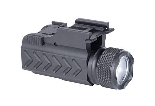 Monstrum Tactical F1000 Compact 150 Lumens Flashlight with Quick Detach Picatinny Rail Mount   for Pistols/Rifles/Shotguns