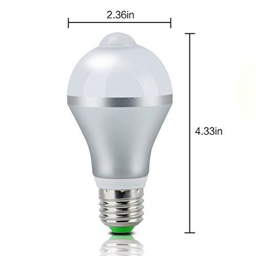 Motion Sensor Light Bulb,Minger 9W Smart PIR LED Bulbs