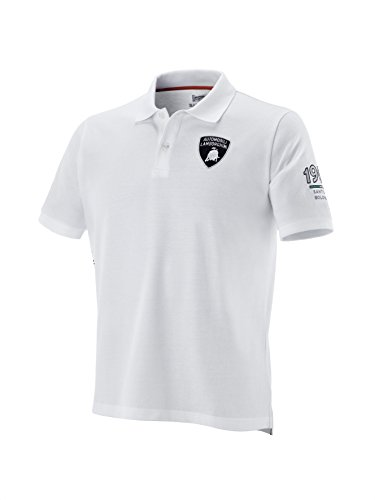 The Lamborghini SS Squadra Corse Polo Shirt, White, - White Collection Ferrari