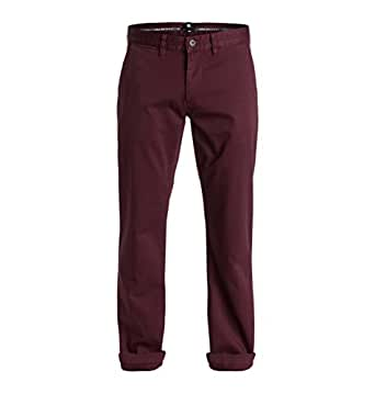 "DC Mens Worker Slim Fit Chino 32"" Pants Sz. 34 Port Royale"