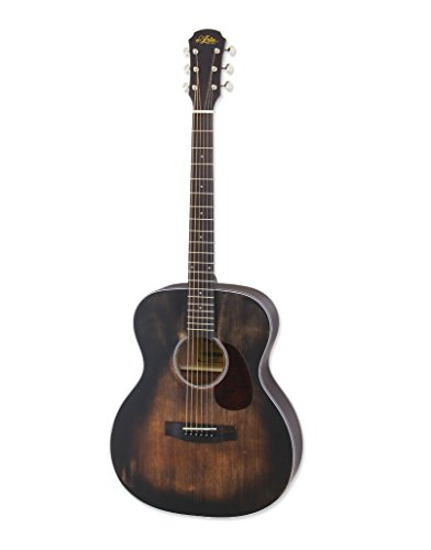 Aria Delta Player 6 String Acoustic Guitar, Muddy Brown Matte Finish,