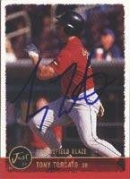 Tony Torcato Bakersfield Blaze - Giants Affiliate 1999 Just Autographed Card - Minor League Card. This item comes with a certificate of authenticity from Autograph-Sports. Autographed