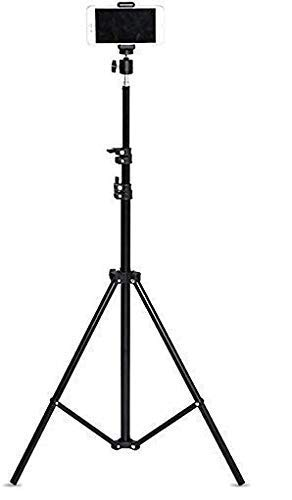 SAIELLIN Tripod Stand with Mobile Holder   Adjustable Tripod Stand   Portable and Foldable Tripod Stand   Mobile Clip & Camera Holder (Tripod 5)