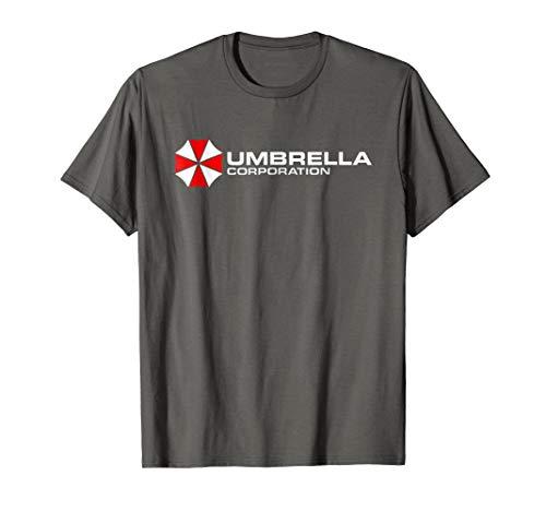 Mens Umbrella Corporation T-Shirt Company Logo 3XL Asphalt