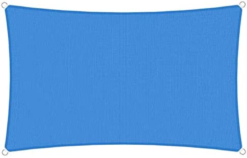 TANG Sunshades Depot 20' x20' Sun Shade Sail Square Permeable Canopy Blue Custom Commercial Standard 240 GSM HDPE