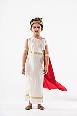 THE BEST COSTUME - Disfraz de griega talla 8-10 años: Amazon.es ...