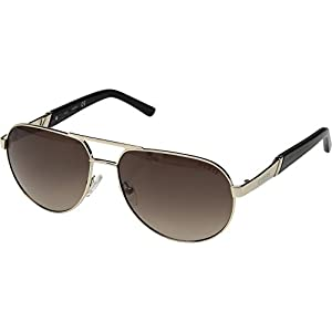 GUESS Unisex GF5031 Shiny Gold/Brown Gradient Lens One Size