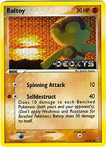 - Pokemon Ex Deoxys Reverse Holofoil Card Baltoy 53/107